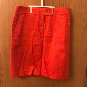 J.Crew Coral Pencil Skirt - Size 6